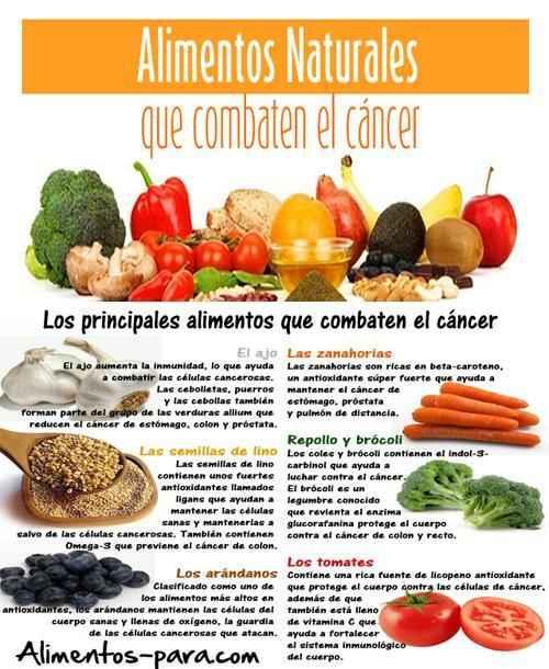 Alimentos para combatir el c ncer alimentos - Alimentos que evitan el cancer ...