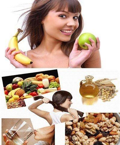 alimentos para el cabello