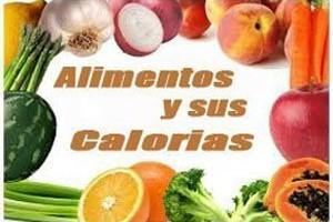Alimentación los alimentos y sus calorias portada
